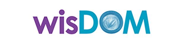 wisDOM logo word